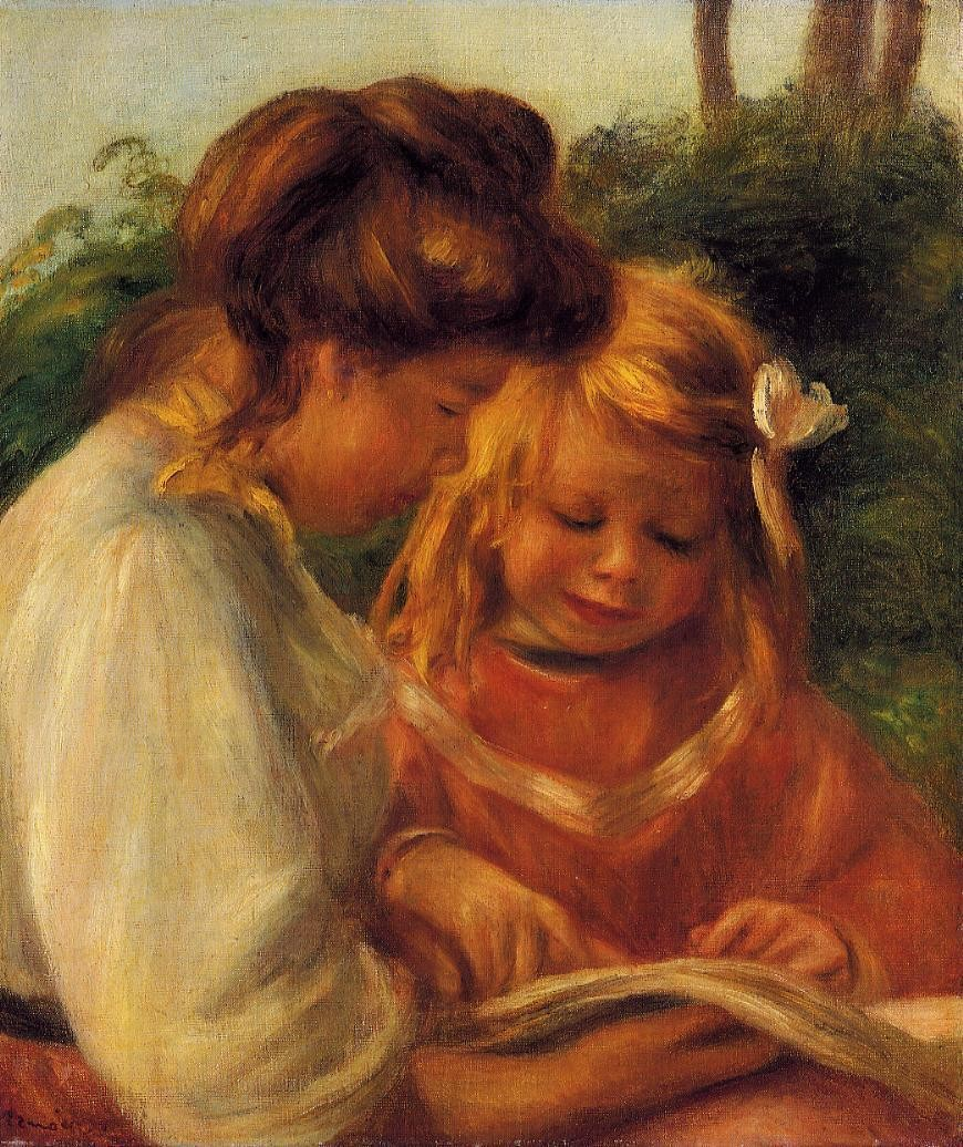 The Alphabet (also known as Jean and Gabrielle), Pierre Auguste Renoir - circa 1897